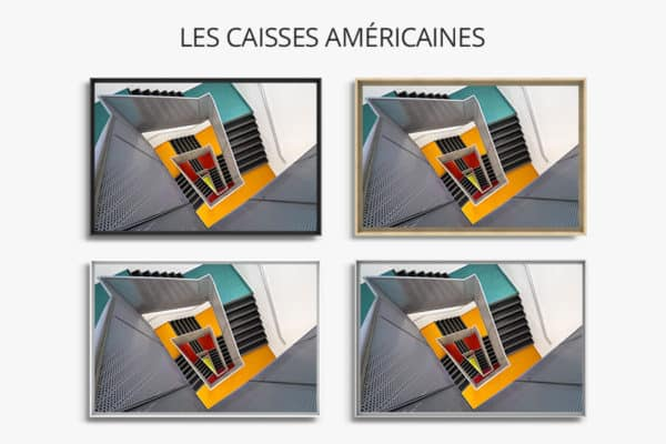 cadre photo pauline chovet escaliers paliers colore caisse americaine