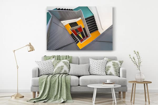 cadre photo pauline chovet escalier paliers colores deco