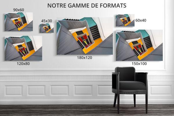 cadre photo pauline chovet escalier paliers colores formats