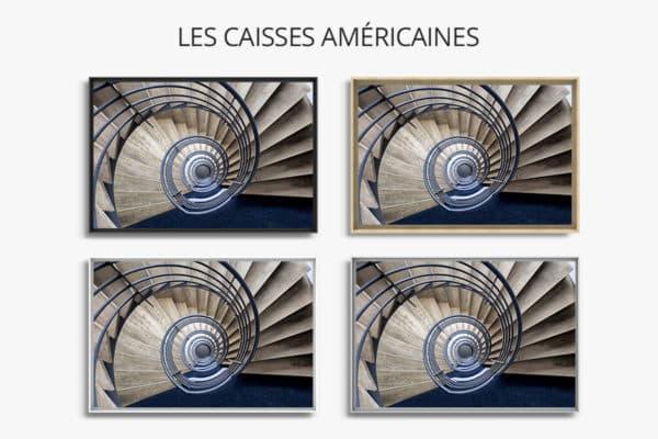 cadre photo pauline chovet escalier volute bleue caisse americaine