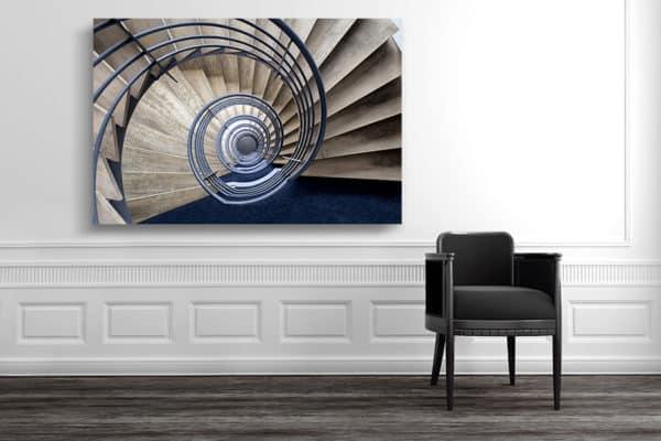 cadre photo pauline chovet volute bleue deco