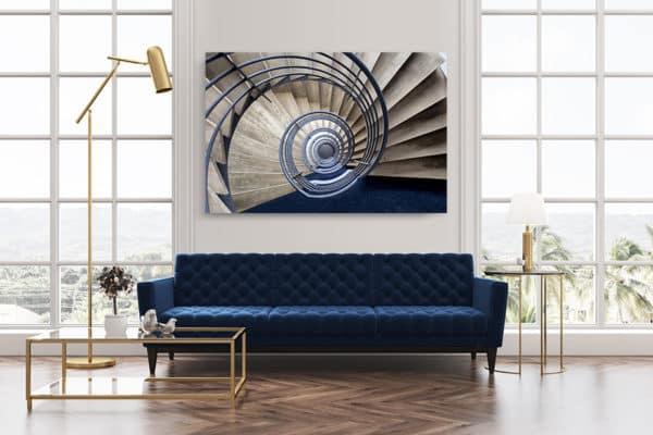 cadre photo pauline chovet escalier volute bleue deco
