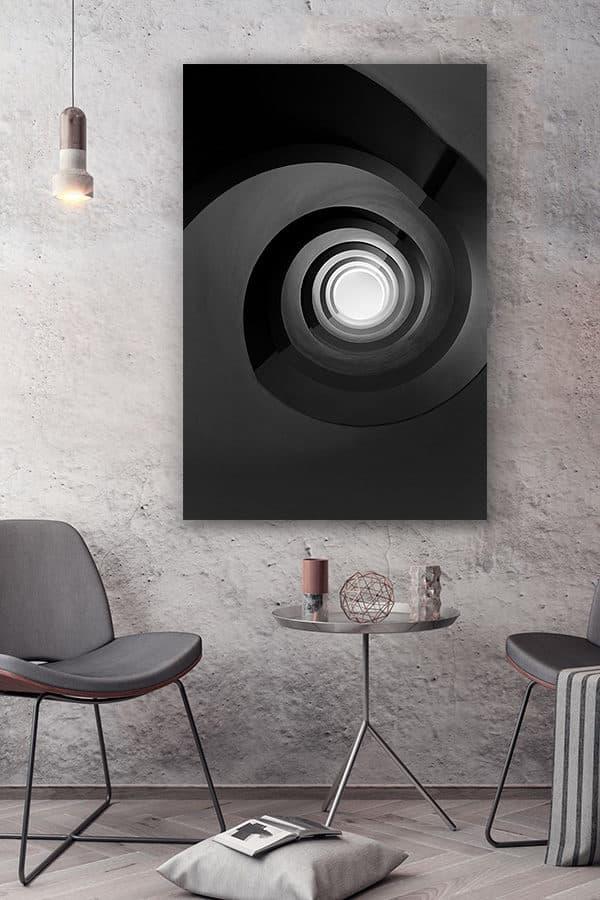 cadre photo escalier noir infini deco