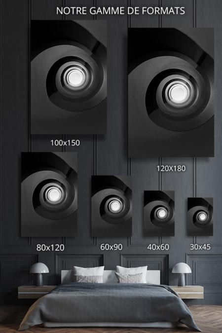 cadre photo escalier noir infini deco formats