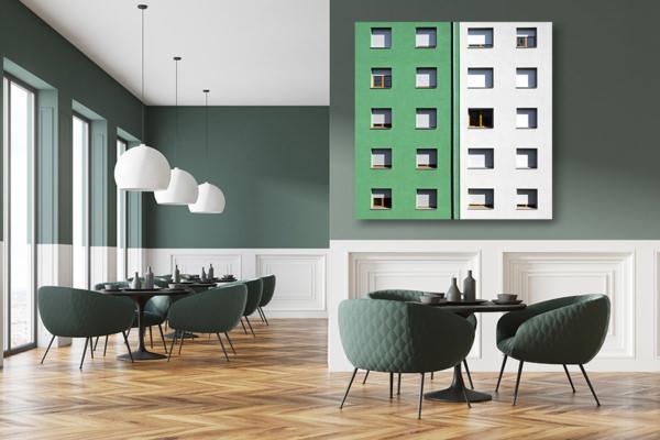 cadre photo chovet fenetres colorees vert dur deco