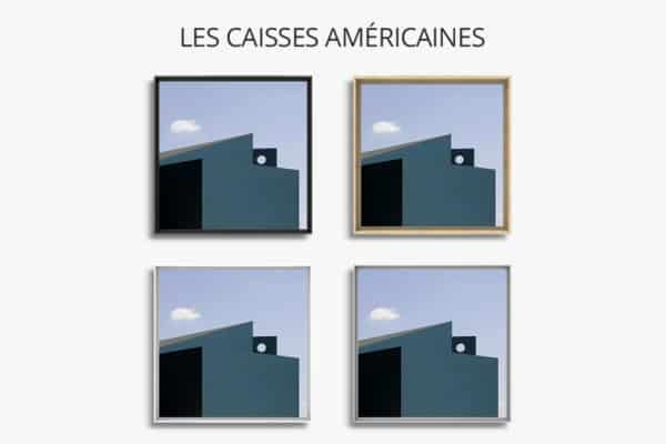 cadre photo hommage a magrite caisse americaine