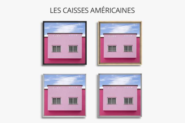 cadre photo chovet rose bonbon caisse americaine