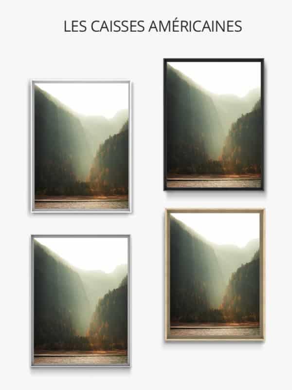 cadre photo brume matinale caisse americaine