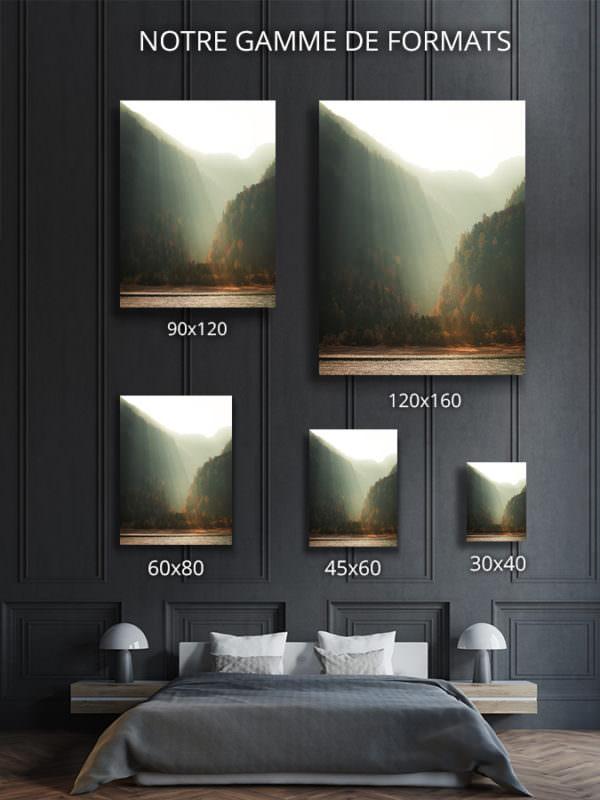 cadre photo brume matinale deco formats