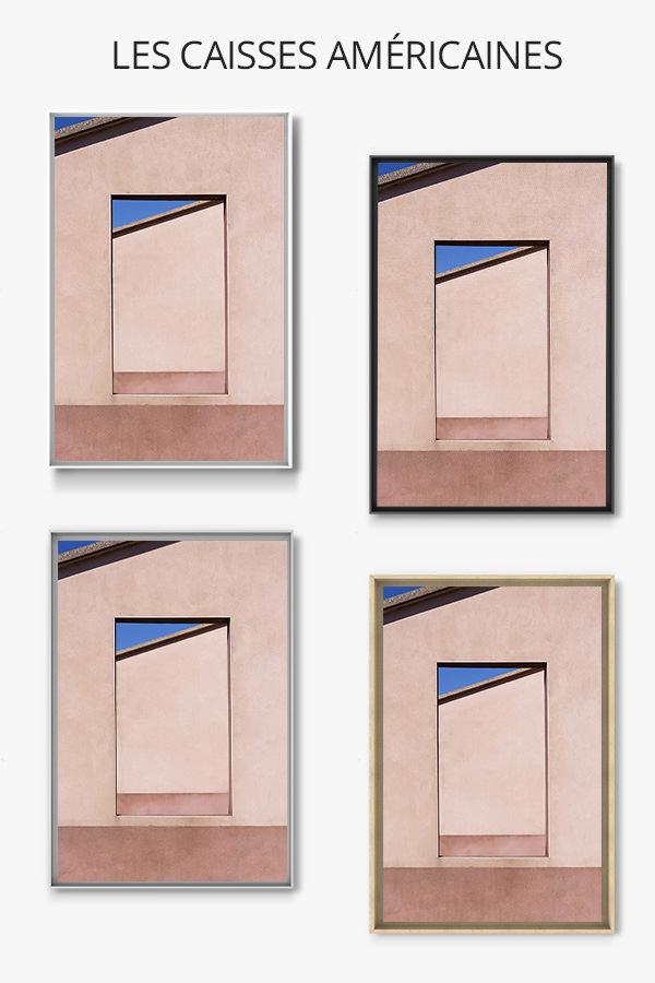 cadre photo coins de ciel bleu caisse americaine