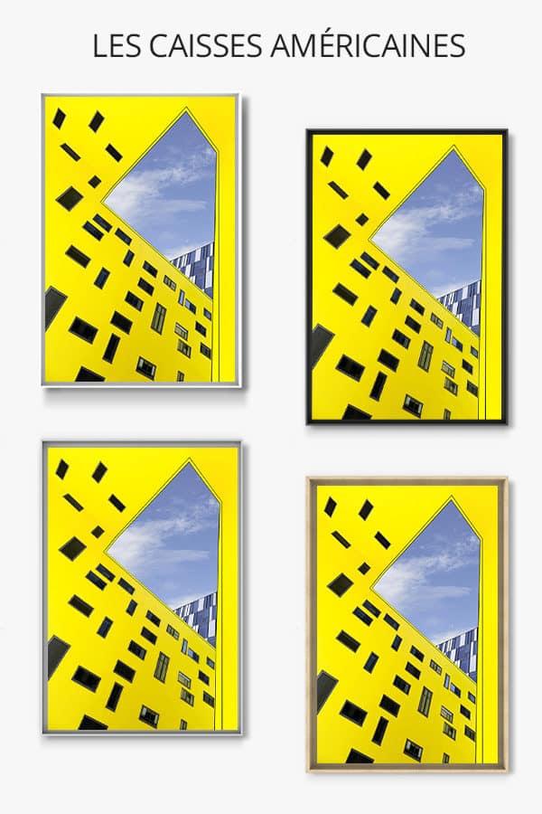 cadre photo cour exterieure caisse americaine