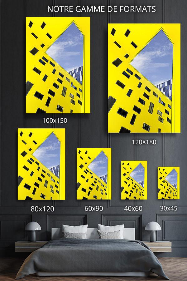 cadre photo cour exterieure deco formats
