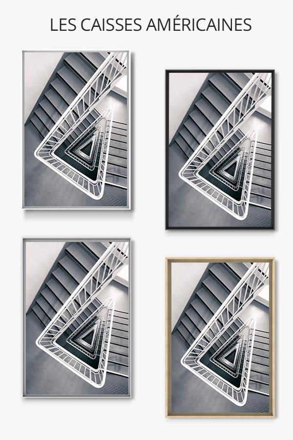cadre photo escalier delta caisse americaine