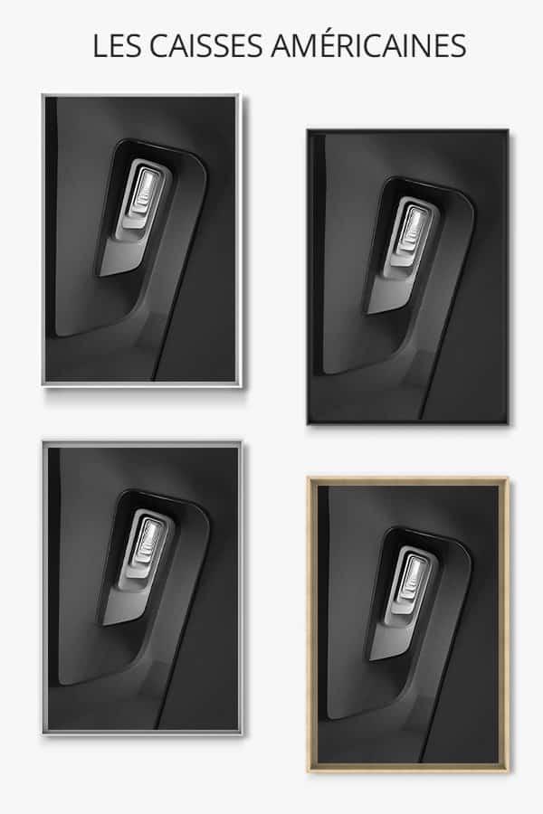 cadre photo escalier profondeur du noir caisse americaine