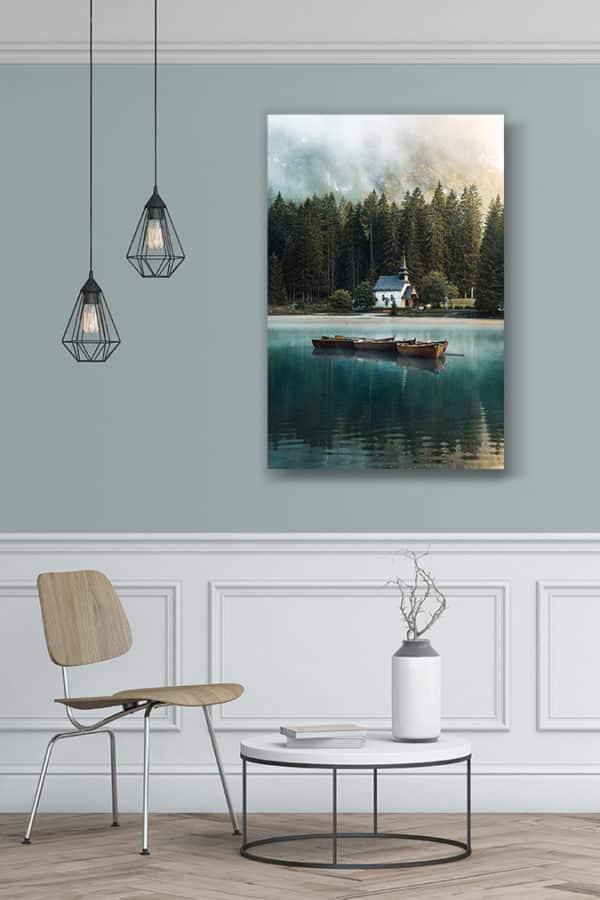 cadre photo lac de braies deco