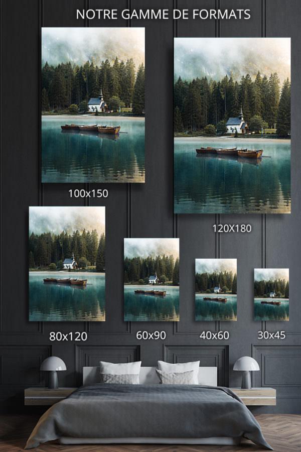 cadre photo lac de braies deco formats