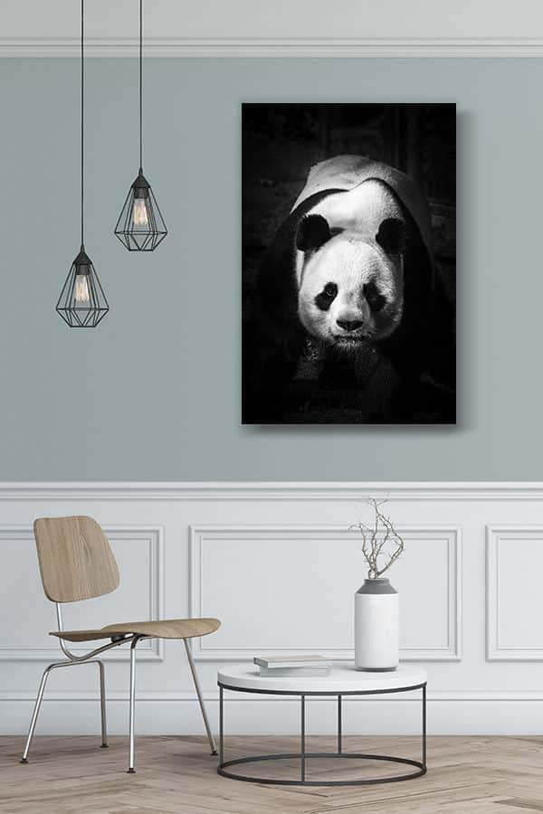 cadre photo panda dominant deco