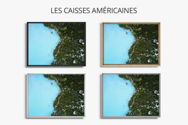 cadre photo reve bleu caisse americaine