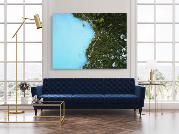 cadre photo reve bleu deco