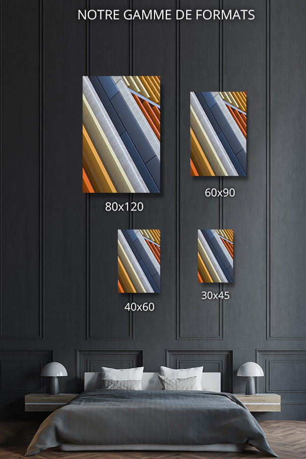 cadre photo stries colorees deco formats