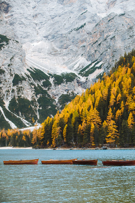 photo automne au lac de braies