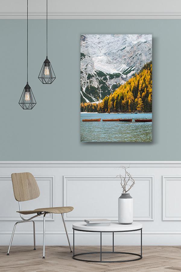 photo automne au lac de braies deco