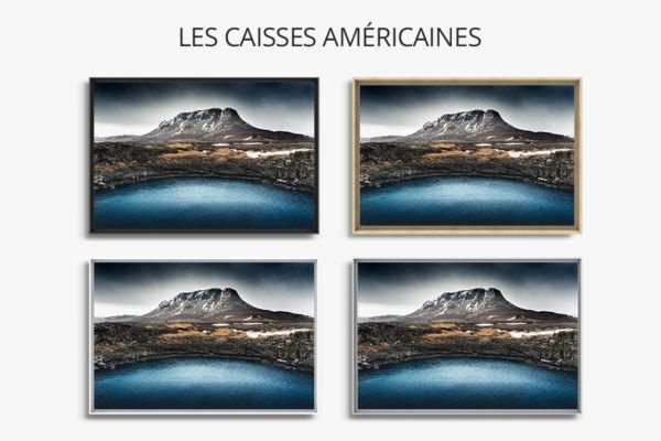 cadre photo bleu caisse americaine
