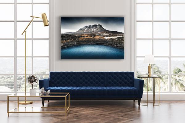 cadre photo bleu deco