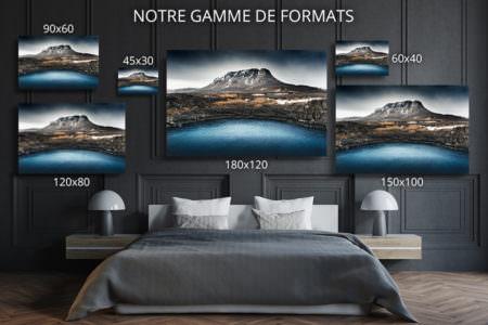 cadre photo bleu deco formats