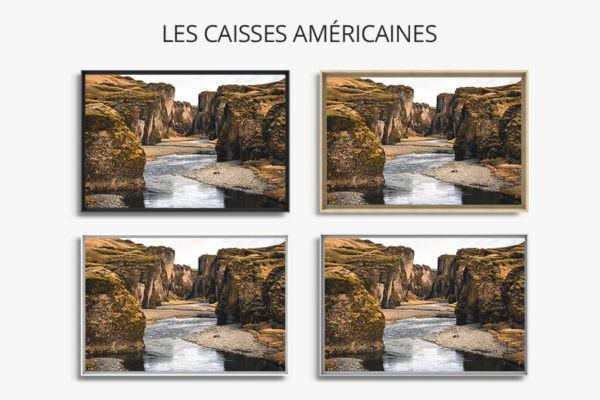 cadre photo brut caisse americaine