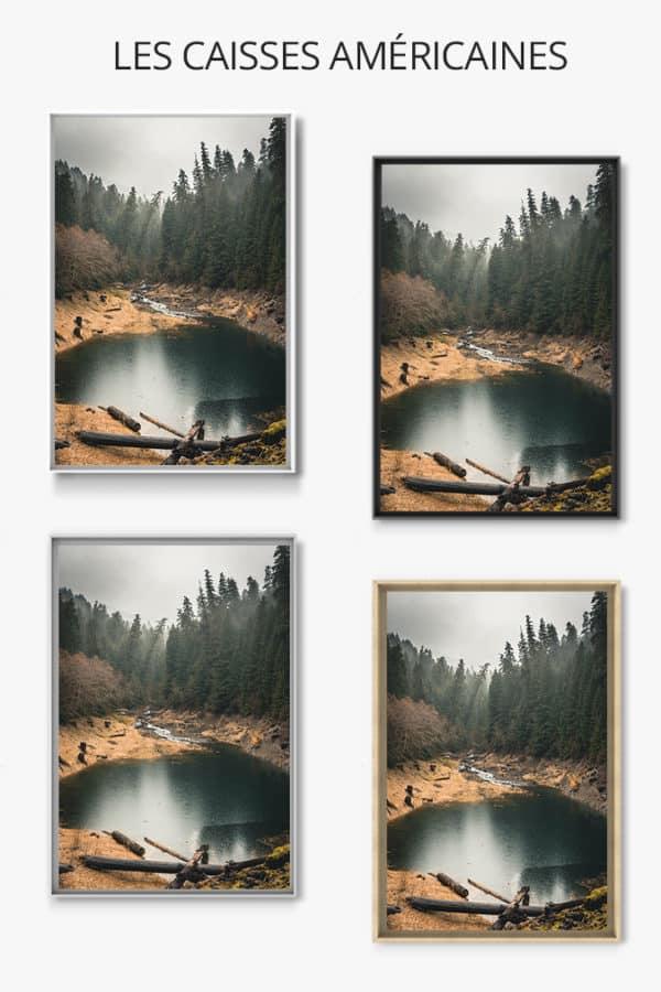 cadre photo calme et sauvage caisse americaine