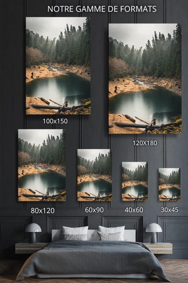 cadre photo calme et sauvage deco formats