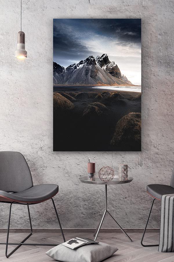 cadre photo entre plage et montagne deco