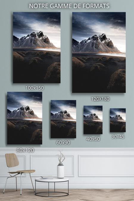 cadre photo entre plage et montagne deco formats