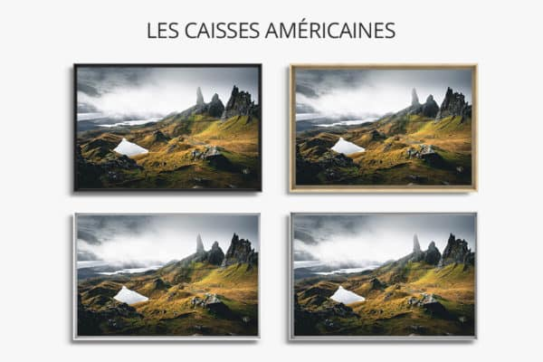 cadre photo intemporel caisse americaine