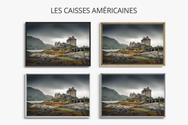 cadre photo la vie de chateau caisse americaine