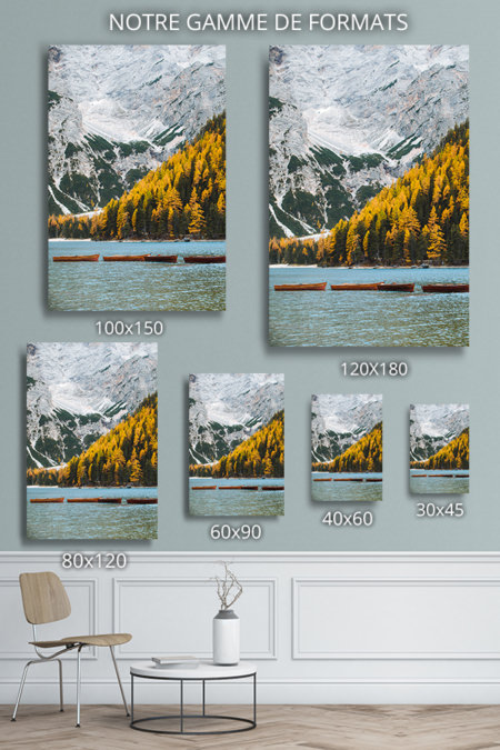 photo lac de braies deco formats