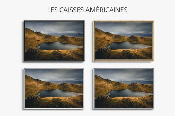 cadre photo lumiere caisse americaine