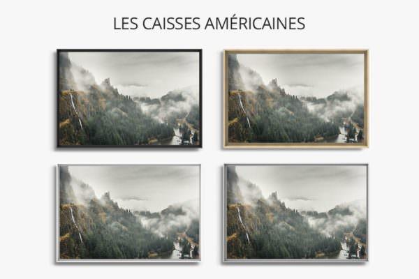 cadre photo nature caisse americaine