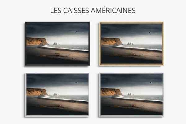 cadre photo plage caisse americaine