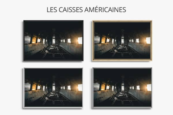 cadre photo vue interieure DC  caisse americaines