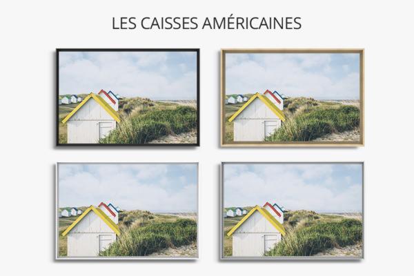 PHOTO Cabines de plage CAISSES AMERICAINES
