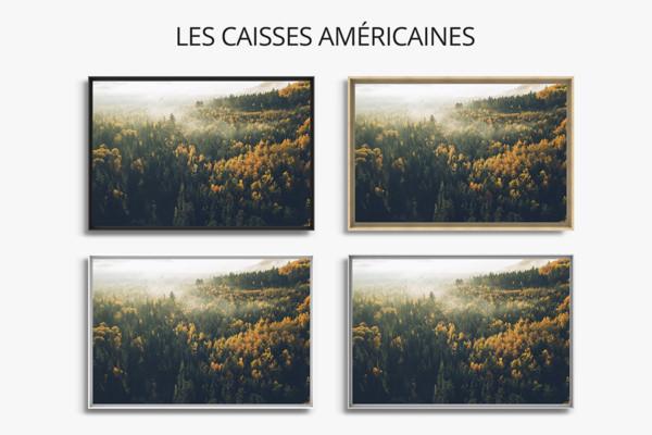 PHOTO LEVER DE SOLEIL AU CANADA CAISSES AMERICAINES