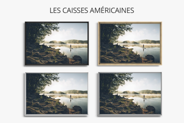 PHOTO Pause au lac CAISSES AMERICAINES