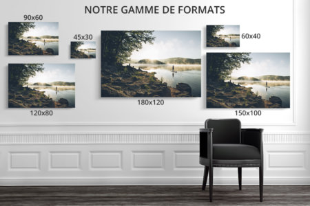 PHOTO Pause au lac FORMATS DECO