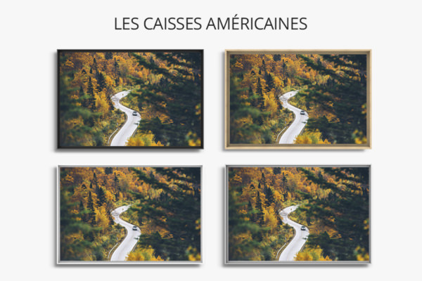 PHOTO ROUTE EN S CAISSES AMERICAINES