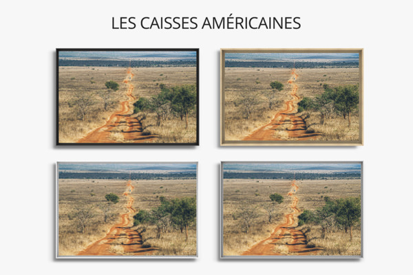PHOTO ROUTE ROUGE CAISSES AMERICAINES