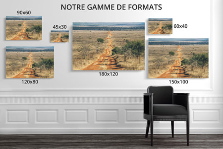 PHOTO ROUTE ROUGE FORMATS DECO
