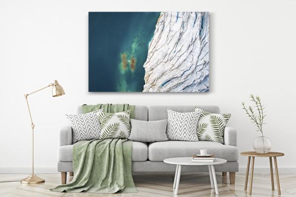 Photo au dessus des glaciers deco