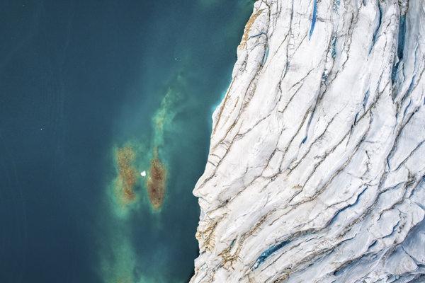 Photo au dessus du glacier ledoux